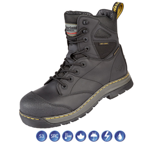 Buy Dr Martens 6922 Torrent ST Black Waterproof Metal Free Safety Boot (Heat & Slip Resistant) at Toolstop