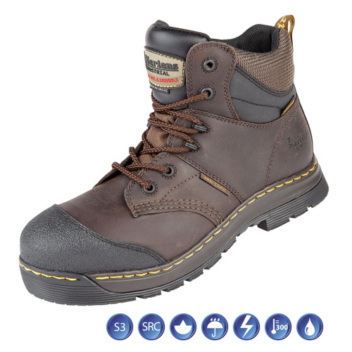 Buy Dr Martens 6921 Surge ST Gaucho Waterproof Metal Free Safety Boot (Heat & Water Resistant) in Brown at Toolstop