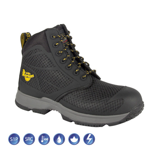 Buy Dr Martens 6660 Calamus Black Metal Free Safety Boot (Heat & Slip Resistant) at Toolstop