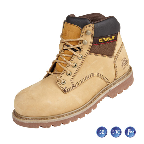 Buy Caterpillar 7002 Honey Goodyear Welted SB Tracker Safety Boot (Heat and Slip Resistant) at Toolstop