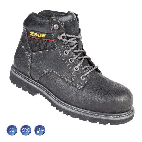 Buy Caterpillar 7001 Black Goodyear Welted SB Tracker Safety Boot (Heat and Slip Resistant) at Toolstop