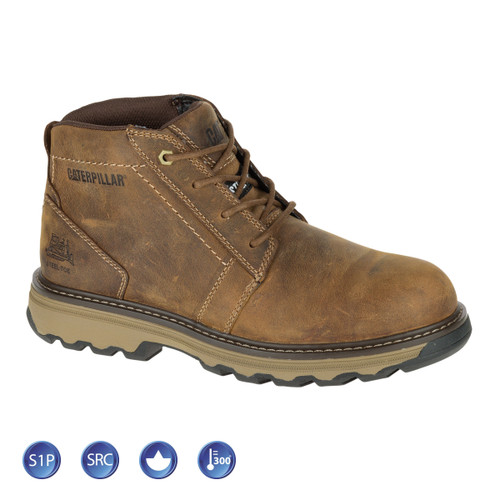 Buy Caterpillar 7068 Parker Dark Beige Safety Boot (Heat and Slip Resistant) at Toolstop