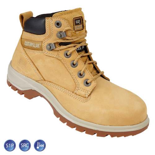 Buy Caterpillar 7047 Ladies Kitson Honey Nubuck Hiker Safety Boot (Heat and Slip Resistant) at Toolstop