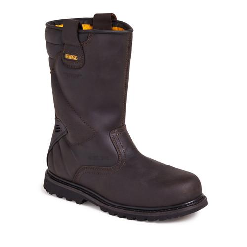 Buy Dewalt Tungsten Waterproof Rigger Safety Boot 200 Joule Toecap in Brown at Toolstop