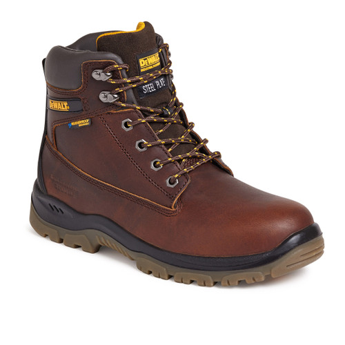 Buy Dewalt Titanium Waterproof 6 Inch Safety Boot 200 Joule Toecap in Tan at Toolstop