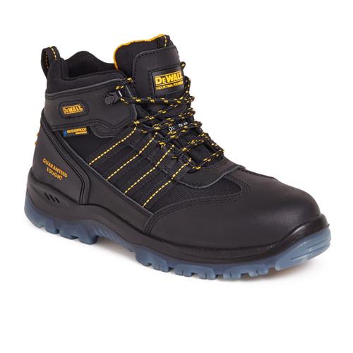 Buy Dewalt Nickel Waterproof Safety Hiker Boot 200 Joule Toecap in Black at Toolstop