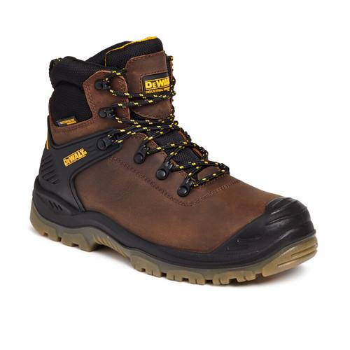 Buy Dewalt Newark Waterproof Safety Hiker Boot 200 Joule Toecap in Brown at Toolstop
