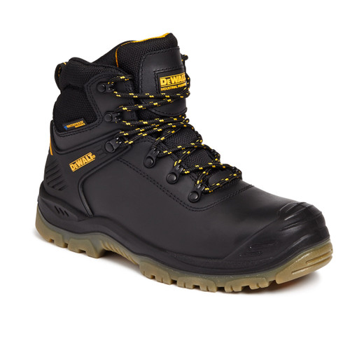Buy Dewalt Newark Waterproof Safety Hiker Boot 200 Joule Toecap in Black at Toolstop