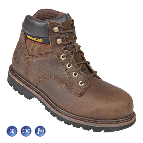 Buy Caterpillar 7000 Brown Goodyear Welted SB Tracker Safety Boot (Heat and Slip Resistant) at Toolstop