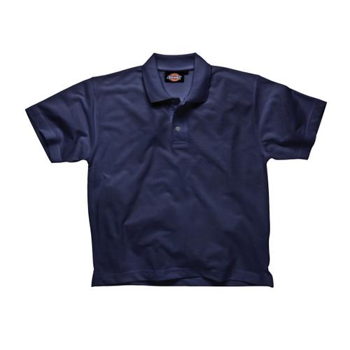 Buy Dickies SH21220 Short Sleeve Polo Shirt (Navy) at Toolstop