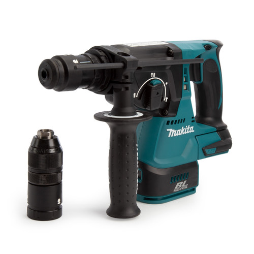 Buy Makita DHR243ZJ 18V Brushless SDS Plus Rotary Hammer 24mm With Quick Change Chuck (Body Only) at Toolstop