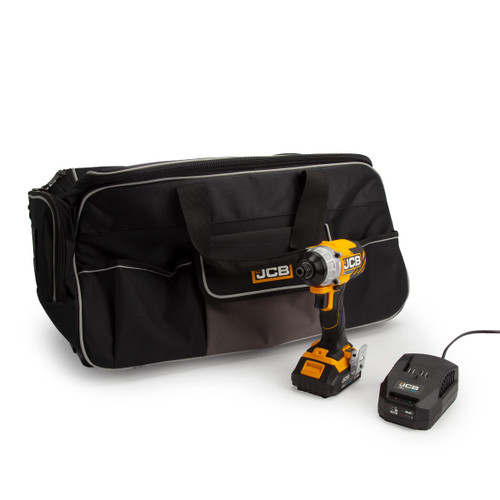 JCB 18BLID-B 18V Impact Driver (1 x 2.0Ah Battery) with Charger & Kitbag - 3