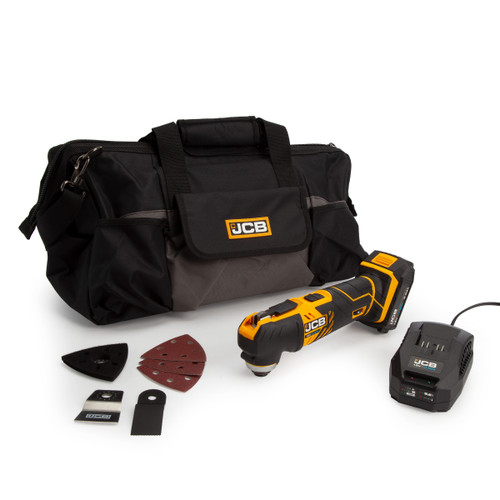 Buy JCB 18MT-B 18V Oscillating Multi Tool (1 x 2.0Ah Battery) with Charger & Kit Bag at Toolstop