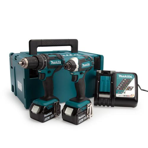 Buy Makita DLX2131TJ 18V LXT Twin Pack - DHP482 Combi Drill + DTD152 Impact Driver at Toolstop