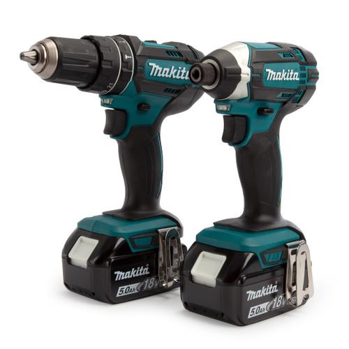 Makita DLX2131TJ 18V LXT Twin Pack - DHP482 Combi Drill + DTD152 Impact Driver - 1