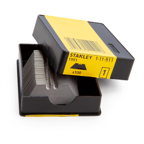 Buy Stanley 1-11-911 Standard Knife Blades (1991) - (Pack of 100) at Toolstop