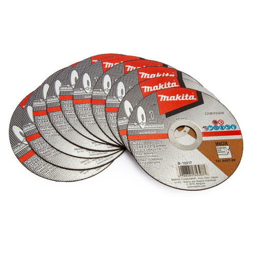 Buy Makita B-12217-10 Thin Cut Off Wheel 115mm x 1mm x 22.23mm (Pack of 10) at Toolstop