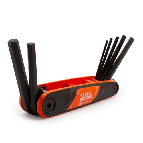 Buy Bahco BE-9777B Metric Folding Hex Key Set 2.5 - 10 mm (7 Piece) at Toolstop