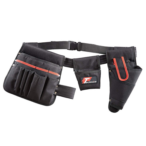 Buy Technics PT12180 Tool Belt with Drill Holster and 15 Pockets at Toolstop