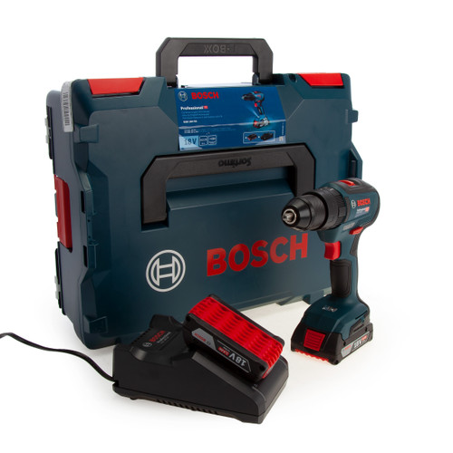 Bosch GSB 18V-55 Professional Brushless Combi Drill (2 x 2.0Ah Batteries) - 1