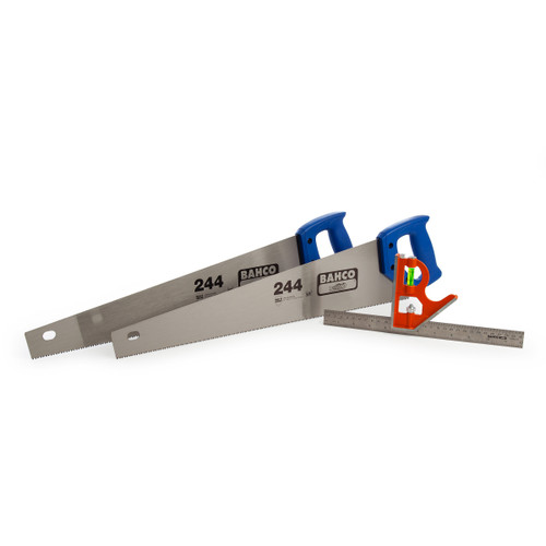 Buy Bahco 244-22-TP-1 Triple Pack - 2 x 244-22-U7/8-HP Hand Saw + CS300 Combination Square at Toolstop