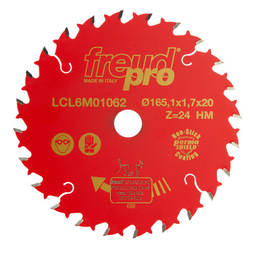 Buy Freud F03FS02409 LCL6M01062 for Solid Wood/Panels Portable Machines/Miter Saw 165mm x 20 x 1.7 x 24T at Toolstop