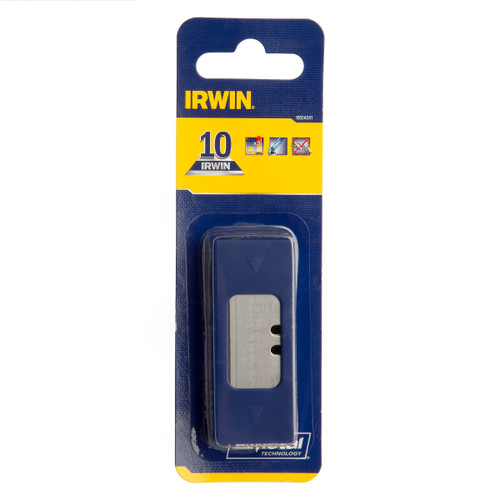 Buy Irwin 10504241 Bi-Metal BLUE Trapezoid Knife Blades (Pack of 10) at Toolstop