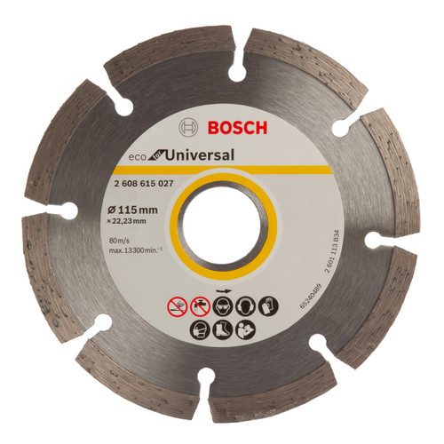 Bosch 2608615027 Eco Universal Diamond Cutting Blade 115mm x 22.23mm - 1