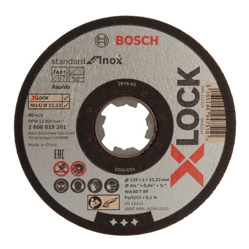 Bosch 2608619266 X-LOCK Standard for Inox Cutting Discs 115mm (Pack Of 10) - 1