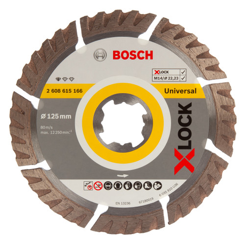 Buy Bosch 2608615166 X-LOCK Standard for Universal Diamond Cutting Blade 125mm at Toolstop