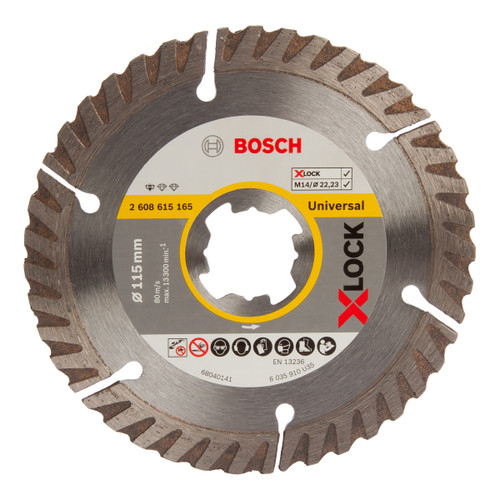 Bosch 2608615165 X-LOCK Standard for Universal Diamond Cutting Blade 115mm - 1