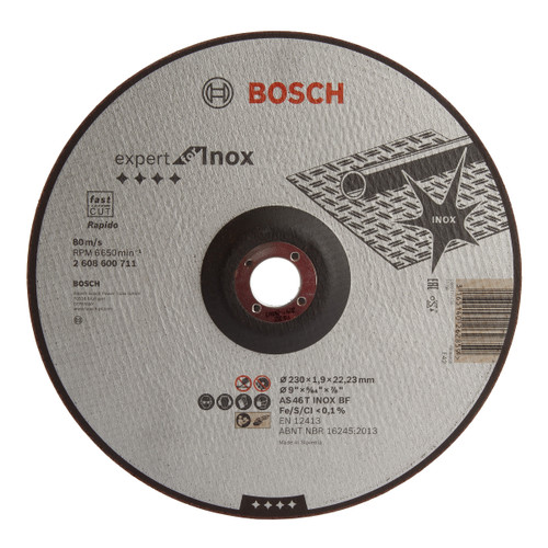 Buy Bosch 2608600711 Expert for Inox Rapido Cutting Disc 230mm at Toolstop