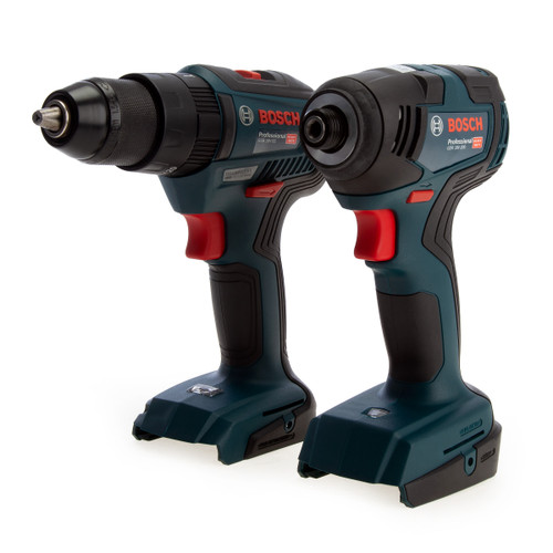 Bosch 06019J2103 Professional Brushless Twin Pack - GSB 18V-55 Combi Drill + GDR 18V-200 Impact Wrench (Body Only) - 2