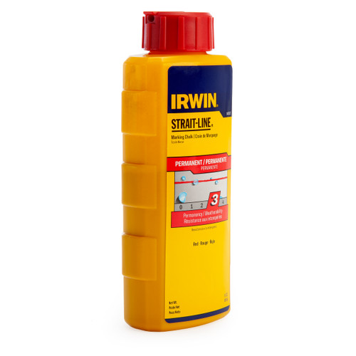 Buy Irwin Strait-Line 64902 Permanent Marking Chalk Refill in Red 8oz / 227g at Toolstop