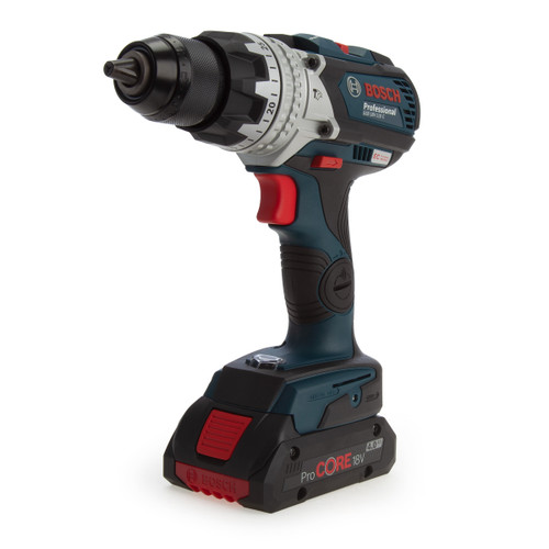 Buy Bosch GSB 18V-100 C Professional Brushless Combi Drill (3 x 4.0Ah ProCORE Batteries) at Toolstop