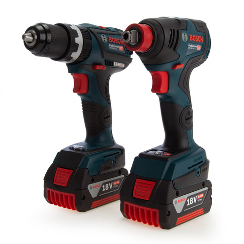 Bosch 06019G4272 18V Combi Drill & Impact Wrench Twin Pack (2 x 5.0Ah Batteries)