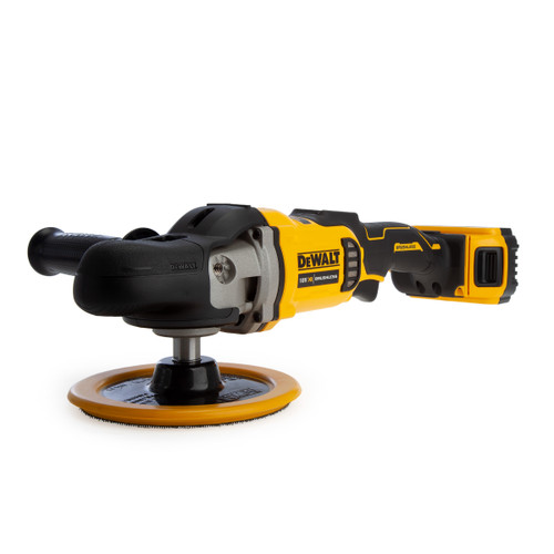 Buy Dewalt DCM849P2 18V XR Brushless Rotary Polisher 180mm (2 x 5.0Ah Batteries) at Toolstop