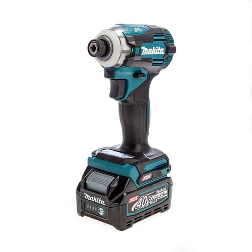 Makita TD001GD103 40Vmax XGT Brushless Impact Driver (1 x 2.5Ah Battery)