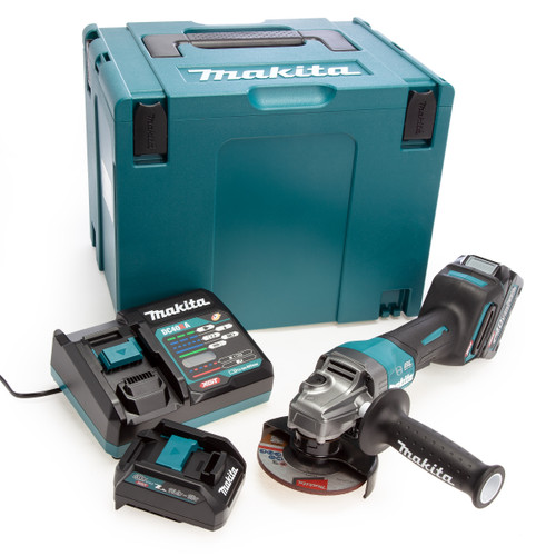 Makita GA012GD101 40Vmax XGT Brushless Angle Grinder With Paddle Switch 115mm (1 x 2.5Ah Battery) 2