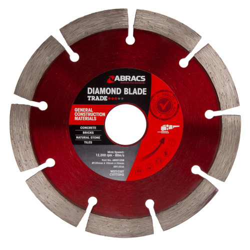 Abracs ABDD125M Trade General Purpose Diamond Blade