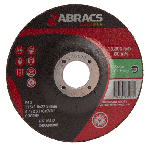 Abracs Proflex PF11530DS Stone Cutting Discs