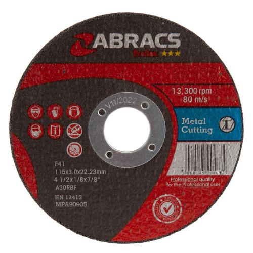 Abracs Proflex PF11530FM Flat Metal Cutting Disc
