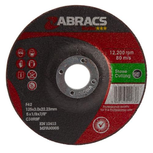 Abracs Proflex PF12530DS Stone Cutting Discs