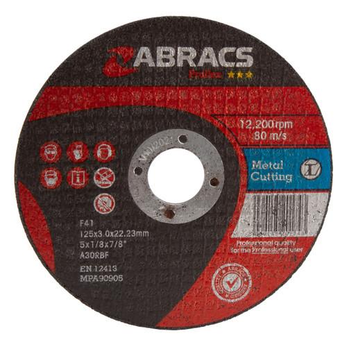 Abracs Proflex PF12530FM Flat Metal Cutting Discs