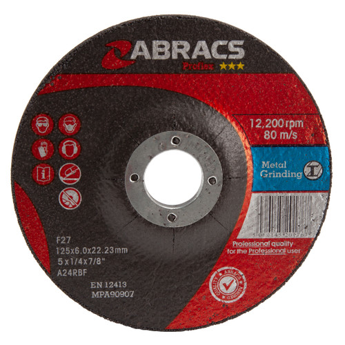 Abracs Proflex PF12560DM Metal Grinding Discs