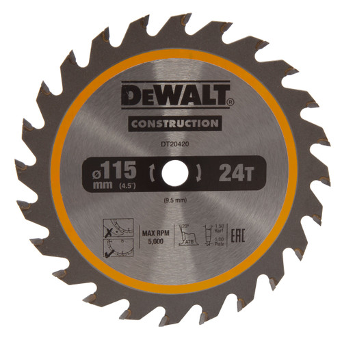 Dewalt DT20420 TCT Circular Saw Blade For DCS571