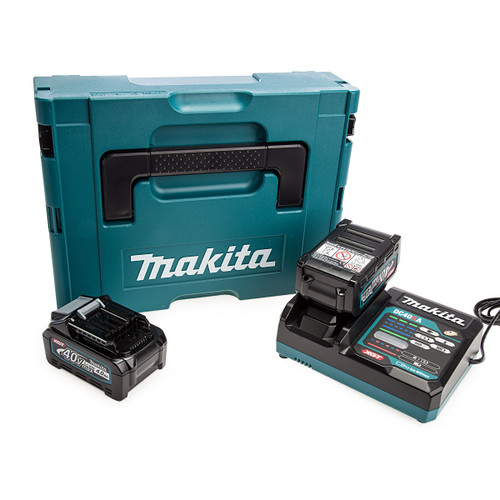 Makita 191K01-6 XGT 40Vmax Power Source Kit (2 x 4.0Ah Batteries)