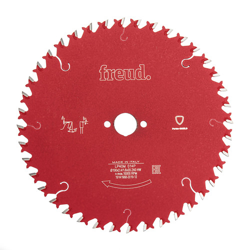 Freud F03FS03712 LP40M 014P Cross Cutting Saw Blade 190 x 2.4mm x 20 x 40T