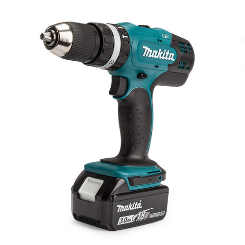 Makita DHP453 18V Li-ion Combi Drill with 101 Piece Accessory Set (1 x 3.0Ah Battery)