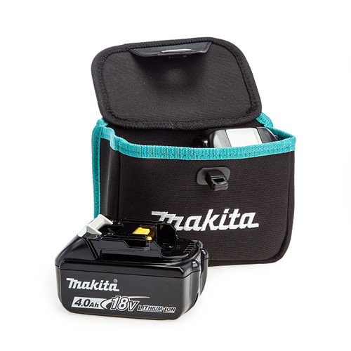 Makita 199297-7 Twin Dual Battery Pouch + 2 x BL1840B 4.0Ah Batteries